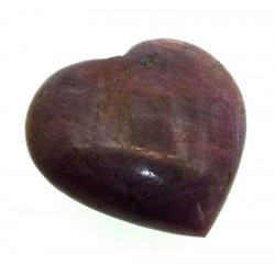Indian Ruby Gemstone Carved Heart 10