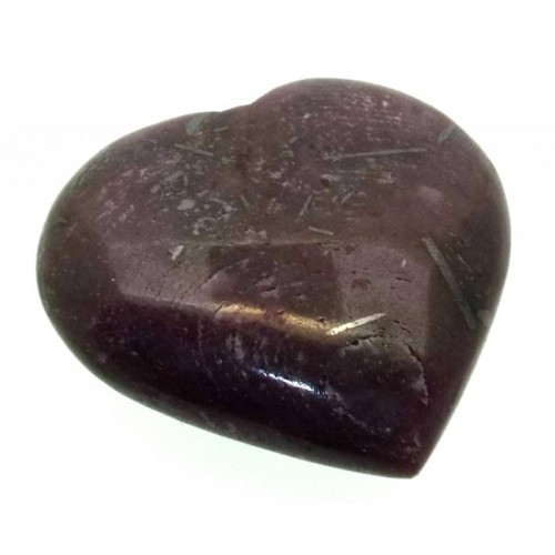 Indian Ruby Gemstone Carved Heart 11