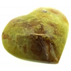 Green Opal Gemstone Carved Heart 03