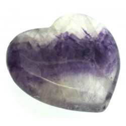 Blue John Gemstone Carved Heart 05