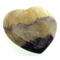 Blue John Gemstone Carved Heart 12