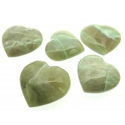 Garnierite Gemstone Carved Heart