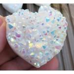 Medium Angel Aura Quartz Gemstone Cluster Heart