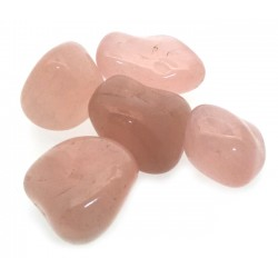 5 x Genuine Rose Quartz Tumbled Gemstones
