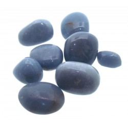50gms Angelite Tumbled Gemstones
