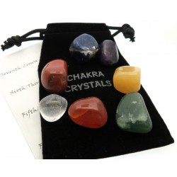 Seven Chakra Gemstone Set with Pouch