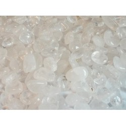 250gms Clear Quartz Tumbled Gemstones