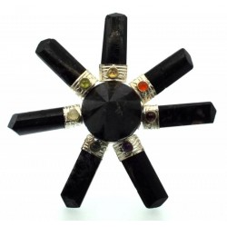 Black Tourmaline Chakra Energy Generator Star