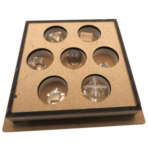 Clear Quartz Gemstone Sacred Geometric Set