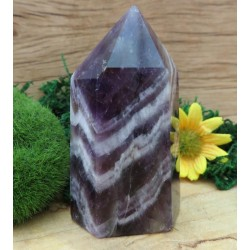 Chevron Amethyst Gemstone Tower 09