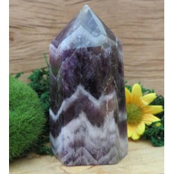 Chevron Amethyst Gemstone Tower 10