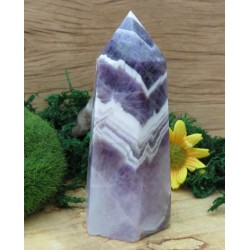 Chevron Amethyst Gemstone Tower 11