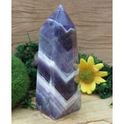 Chevron Amethyst Gemstone Tower 17
