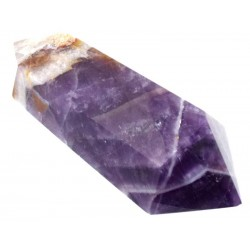 Chevron Amethyst Gemstone Double Terminated Wand 06