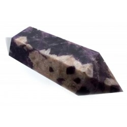 Chevron Amethyst Gemstone Double Terminated Wand 11