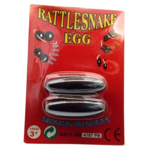 Pair of Magnetic Hematite Rattlesnake Eggs