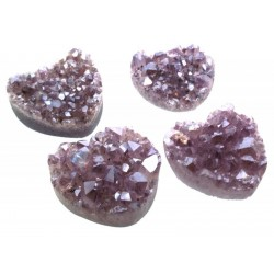Amethyst Aura Mini Gemstone Cluster Heart