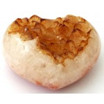 Citrine Gemstone Cluster Heart 01