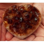 Citrine Gemstone Cluster Heart 02