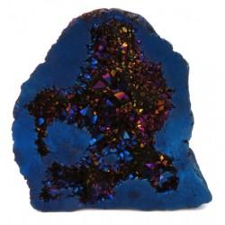 Cobalt Aura Quartz Geode Half 03