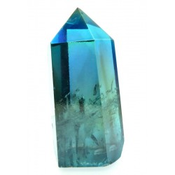Aqua Aura Quartz Gemstone Tower 02