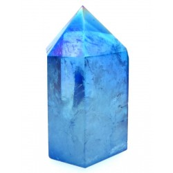 Aqua Aura Quartz Gemstone Tower 06