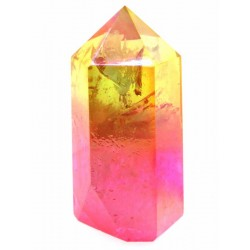 Candy Aura Quartz Gemstone Tower 02