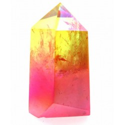 Candy Aura Quartz Gemstone Tower 04