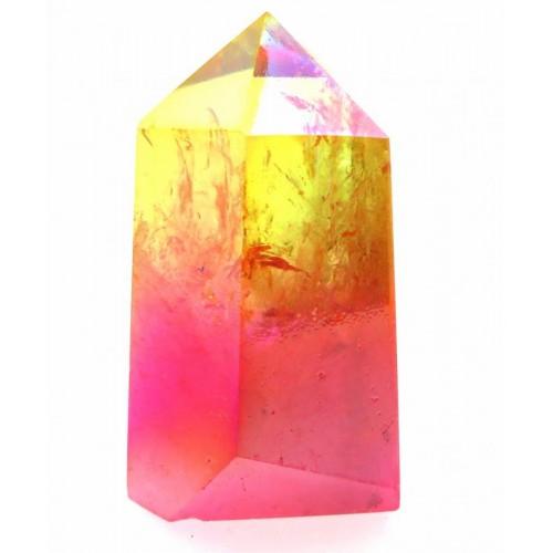 Candy Aura Quartz Gemstone Tower 04