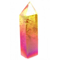 Candy Aura Quartz Gemstone Tower 05