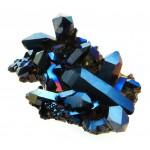 Cobalt Aura Quartz Cluster Specimen 01