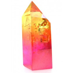 Candy Aura Quartz Gemstone Tower 08