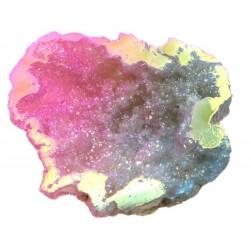 Pixie Aura Quartz Geode Half 04
