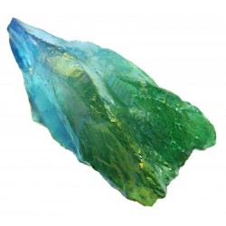 Dragon Poop Peacock Aura Quartz Point 09