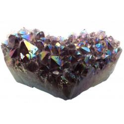 Amethyst Aura Gemstone Cluster Heart Specimen 04
