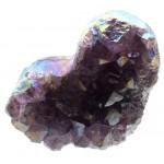 Amethyst Aura Gemstone Cluster Heart Specimen 05