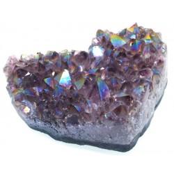 Amethyst Aura Gemstone Cluster Heart Specimen 07