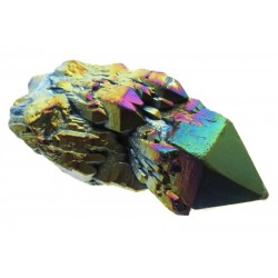 Elestial Titanium Aura Quartz Gemstone Point 05
