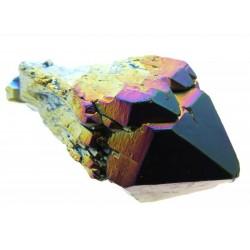 Elestial Titanium Aura Quartz Gemstone Point 09