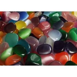 1 x Random Colour Cats Eye Tumblestone