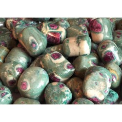 1 x Large Ruby in Fuchsite Tumblestone