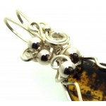 Baltic Amber Sterling Silver Wire Wrapped Pendant 04
