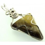 Baltic Amber Sterling Silver Wire Wrapped Pendant 09