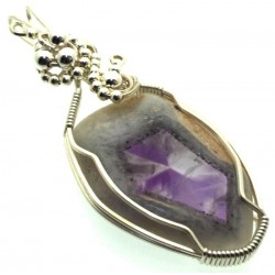 Tripache Star Amethyst Stalactite Wire Wrapped Pendant 01
