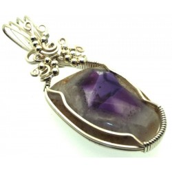 Tripache Star Amethyst Stalactite Wire Wrapped Pendant 02