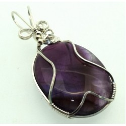 Amethyst Wrapped Pendant Design 6
