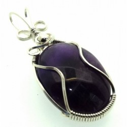 Amethyst Wrapped Pendant Design 7