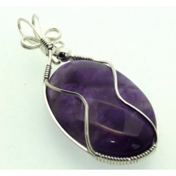 Amethyst Wrapped Pendant Design 10