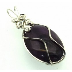 Amethyst Wrapped Pendant Design 12