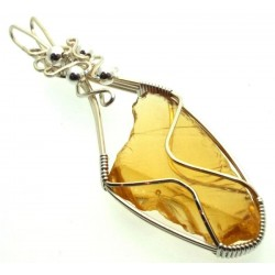 Avalon Sunset Andara Silver Plated Wire Wrapped Pendant 162